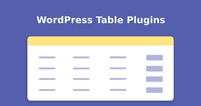 4 Best WordPress Table Plugins